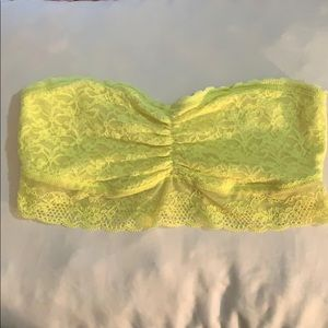 Yellow Lace Bandeau